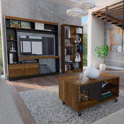 Mesa de Centro + Estante + Biblioteca TuHome Clasicc