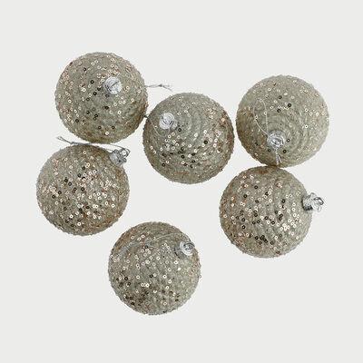 Set 6 Esferas Decorativas 8 Cm