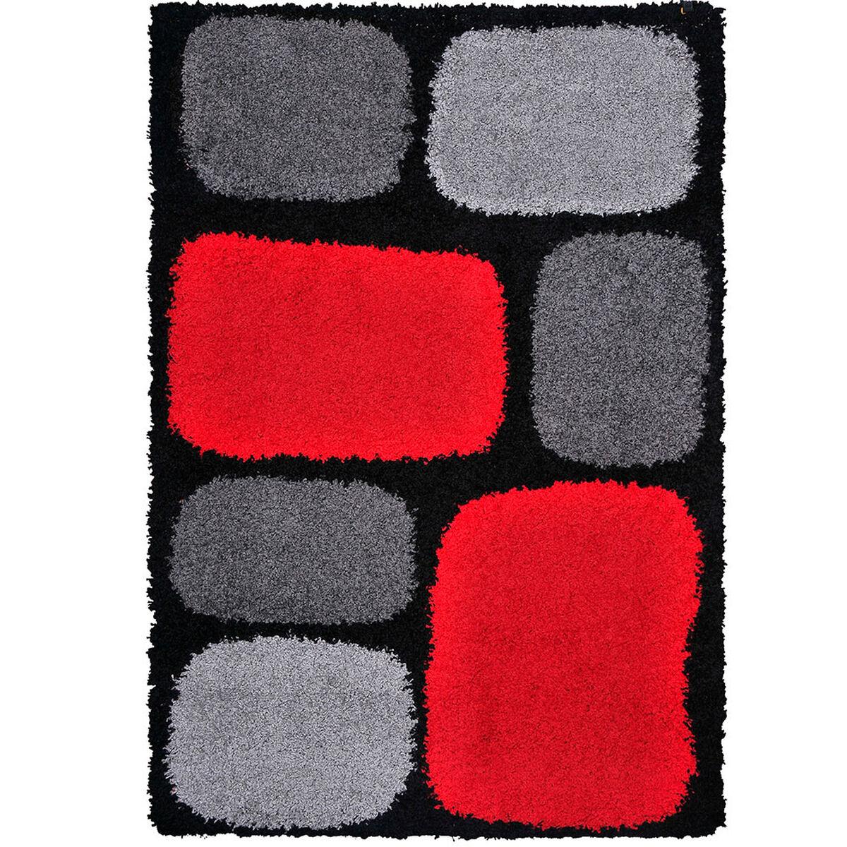 Alfombra Shaggy 1.8k Studio 150x200 Grids Negro
