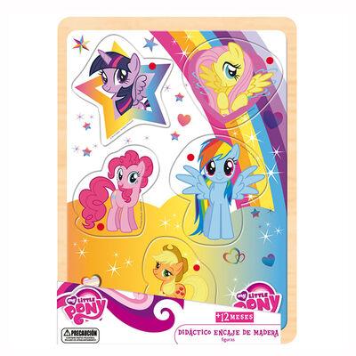 Didactico Encaje Madera Medios De Transp. My Little Pony Hasbro