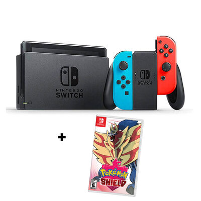 Consola Nintendo Switch Neón + Juego Pokemon Shield