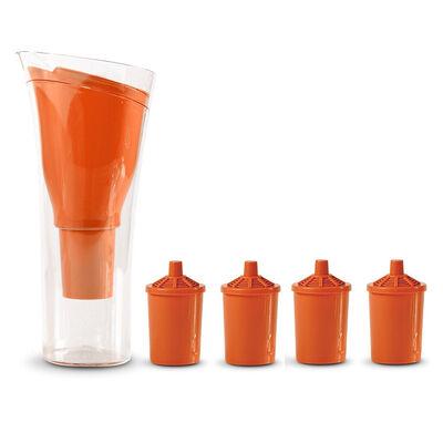Jarro Purificador de Agua + 4 Repuestos de Filtro Dvigi Naranja