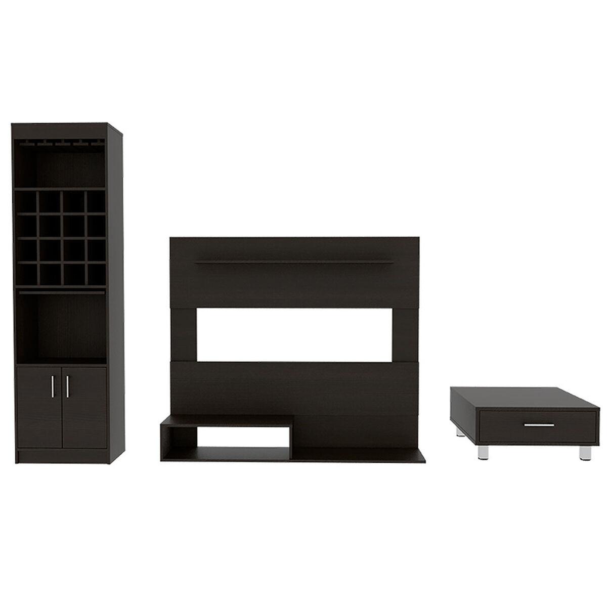Set Panel TV + Muebles Bar + Mesa de Centro