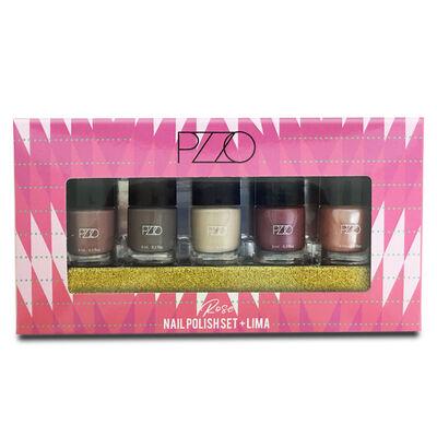 Set Esmaltes Nail Polish Set + Lima Rose Petrizzio N20
