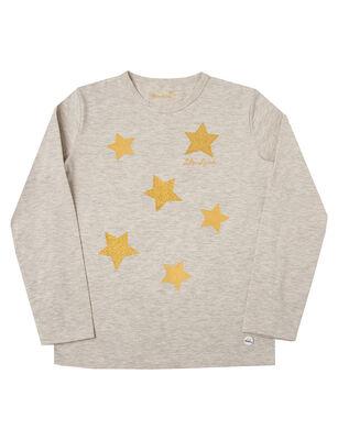 Polera de Algodón Estrellas Glitter Niña Exception