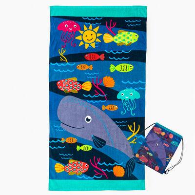 Toalla de Playa Con Bolso Kiddo 70 x 140 cm