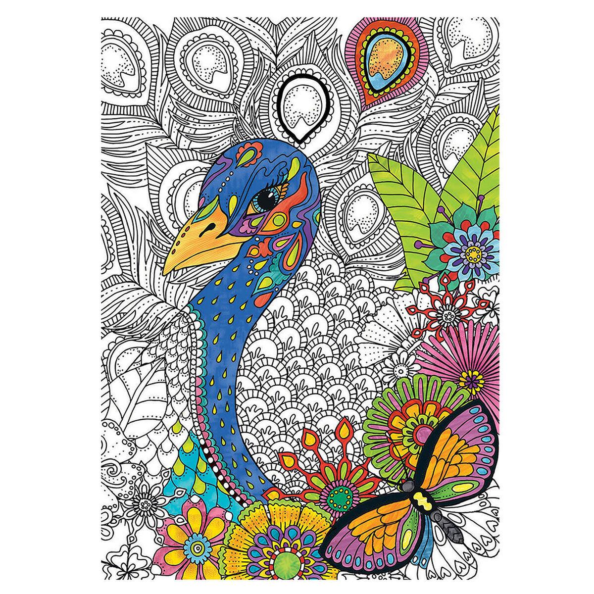 Puzzle para Colorear Jungle Safari Educaborras