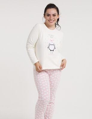 Pijama Dos Piezas Micropolar Cuello Redondo