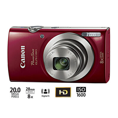 Cámara Digital Canon PowerShot ELPH 180 Red