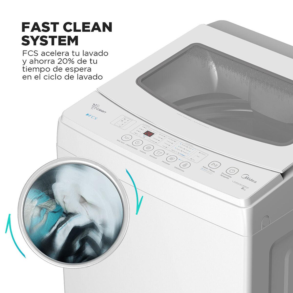 Lavadora Automática Midea MLS-080BE04N 8 kg