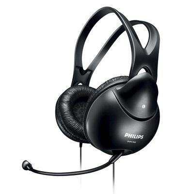 Audífonos con Micrófono Philips  Easy Chat Negro