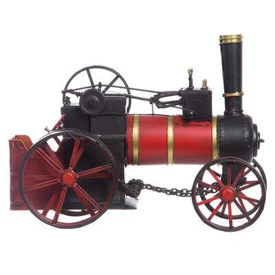 Adorno Metal Locomotora Rojo