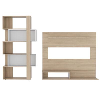 Set Panel:  TV + Biblioteca