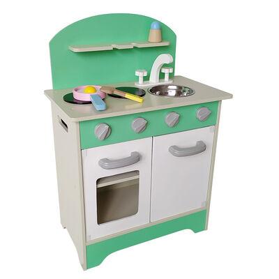 Cocina de Madera Gamepower Verde con Accesorios