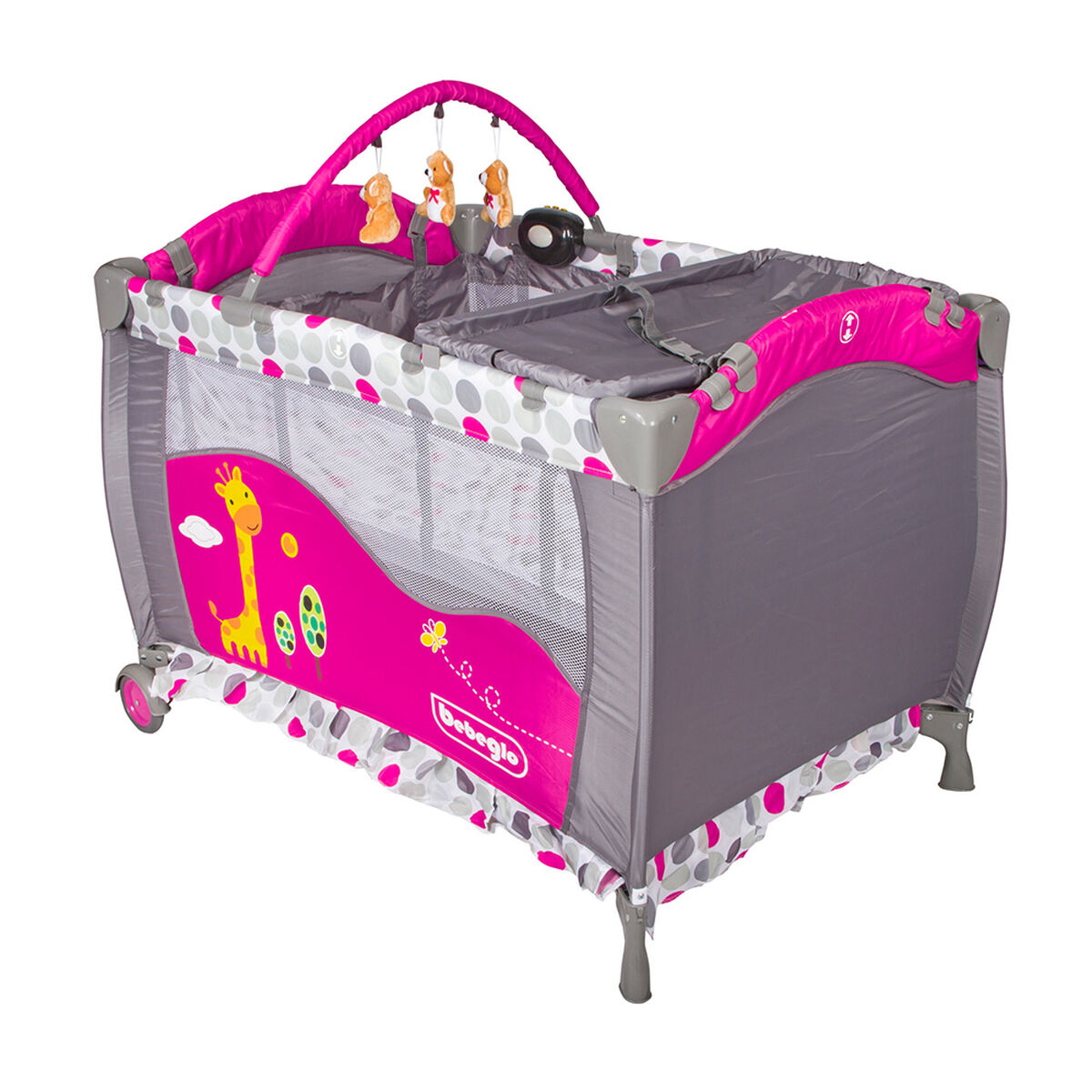 Cuna Corral Pack & Play RS-6190-3 Fucsia