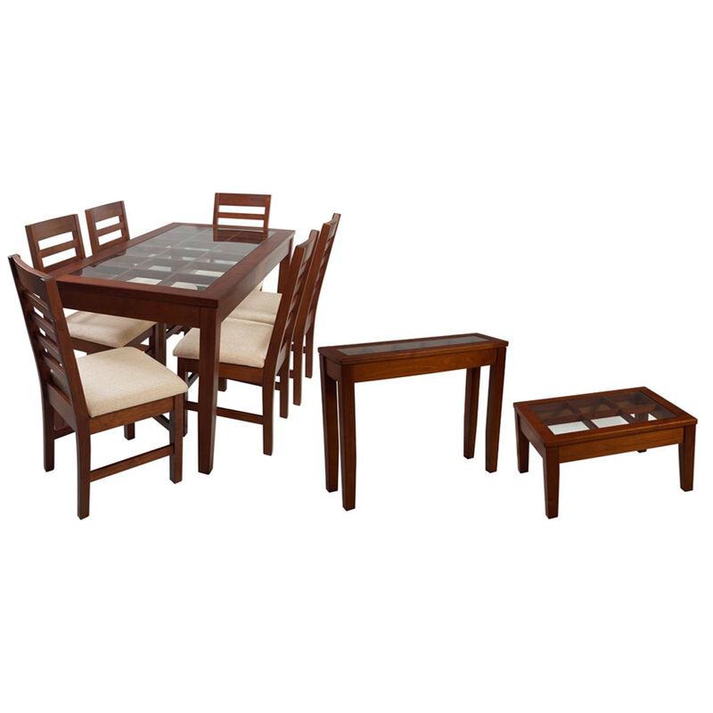 Set Comedor 6 Sillas + Arrimo + Mesa de Centro