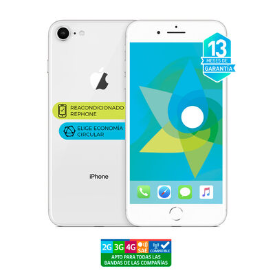"Celular Apple Iphone 8 64GB 4.7"" ReacondicionadoPlata Liberado"
