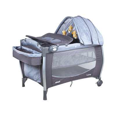 Cuna Playard Luna Grey Dots