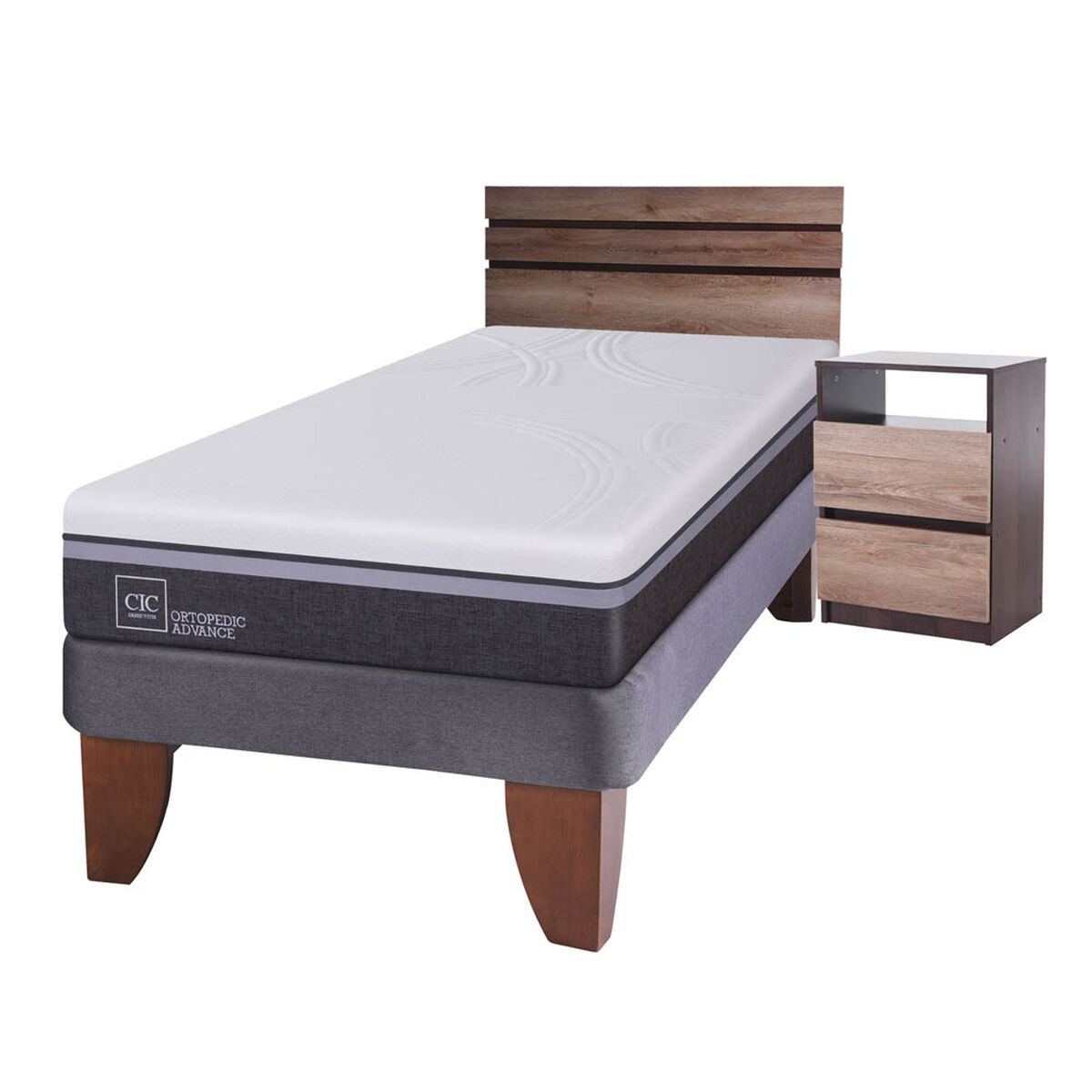 Cama Europea 1,5 Plazas Ortopedic Advance