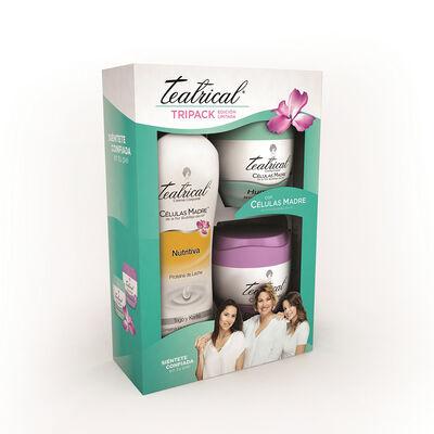 Pack Teatrical Crema Desmaquillante  + Humectante + Corporal Nutritiva 400 ml