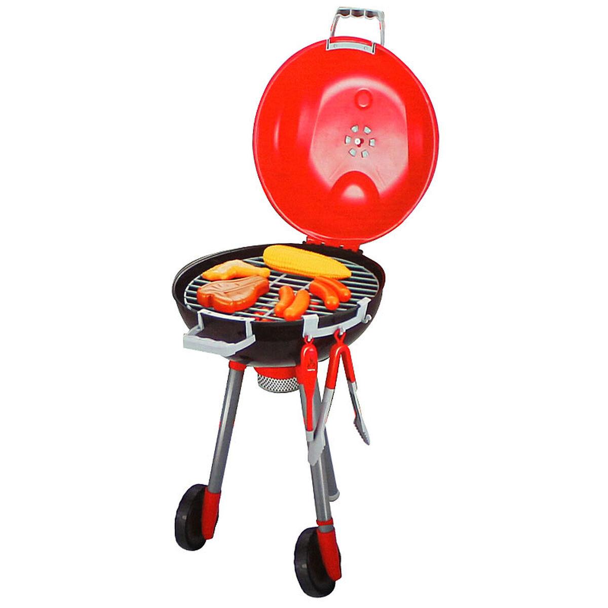 Set Mini Parrilla BBQ con Ruedas