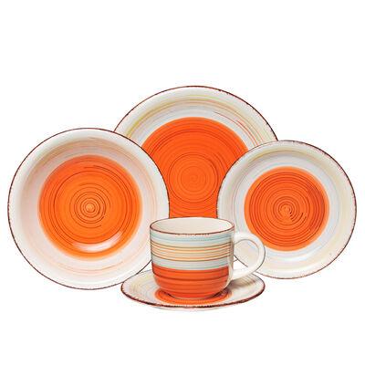 Juego de Vajilla D&M Antique Orange 30 Piezas