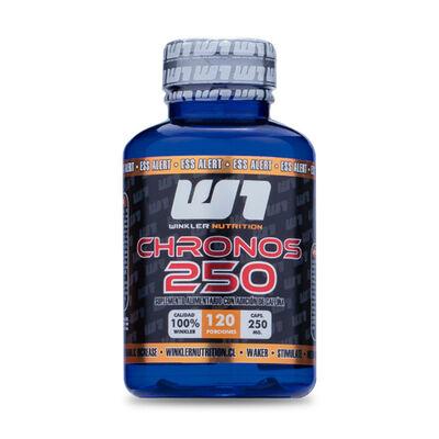 Cafeína Anhidra Chronos 100% 250 Mg 120 Cápsulas 120 Porciones