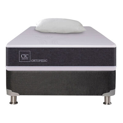Box Spring CIC 1 Plaza New Ortopedic + Almohada
