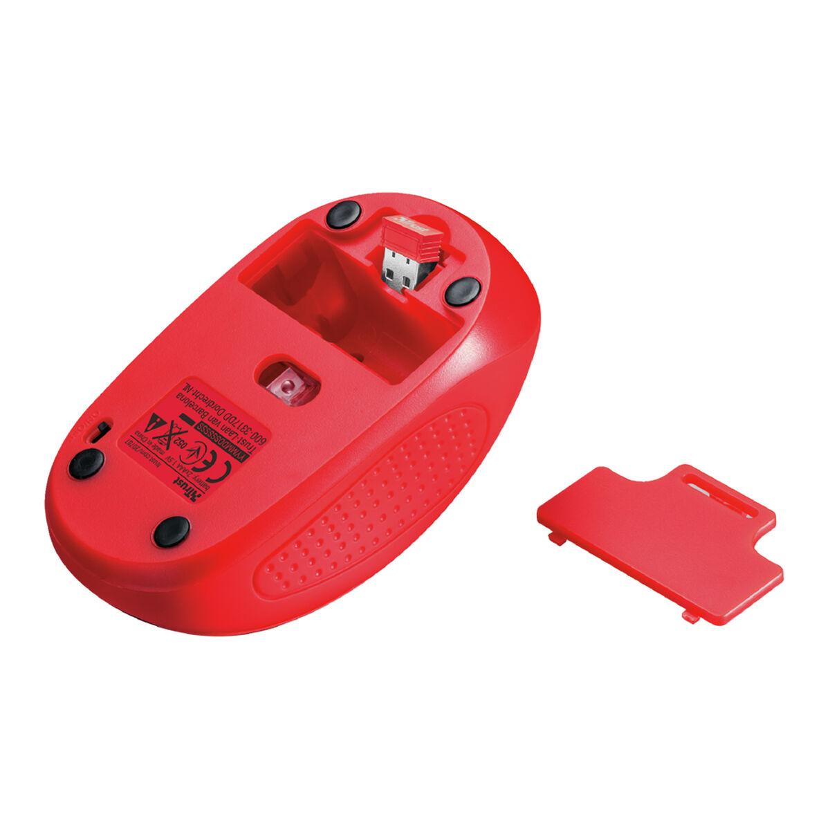 Mouse Óptico Inalámbrico Trust Rojo