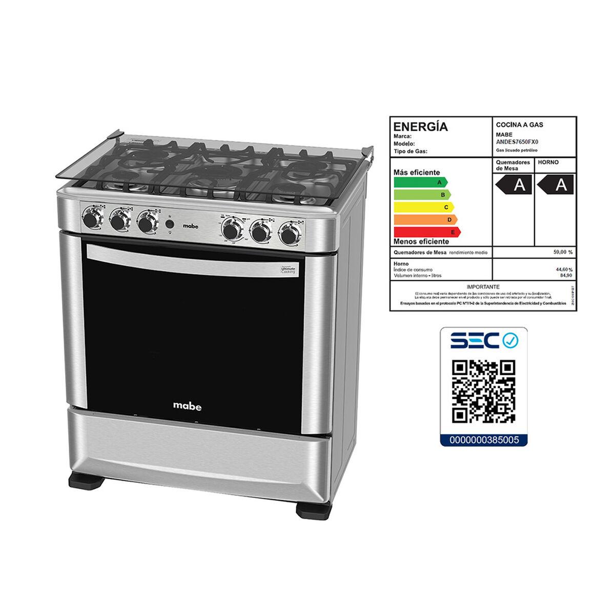 Cocina a Gas Mabe Andes7650F 5 Quemadores