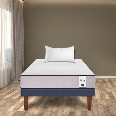 Cama Europea Cic 1,5 Plazas New Titan  + Almohada Imperial Celta Soft 50 x 70 cm