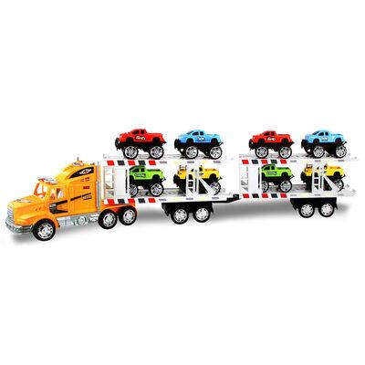 Camión Fricción + 8 Autos