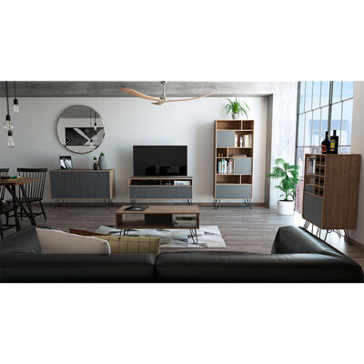 "Rack Tv 55"" + Biblioteca + Bar + Bife + Mesa Centro Vassel"