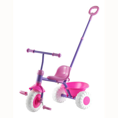 Triciclo Infantil GamePower Con Agarre Rosado