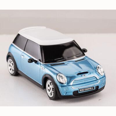 Auto R/C Rastar Mini Cooper S Azul 1:24
