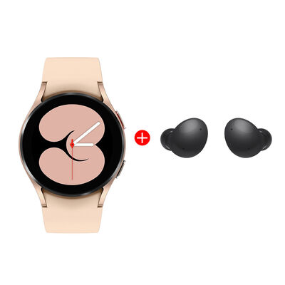 Combo Smartwatch Samsung Galaxy Watch4 40mm Pink + Audífonos Bluetooth Samsung Galaxy Buds2 Graphite