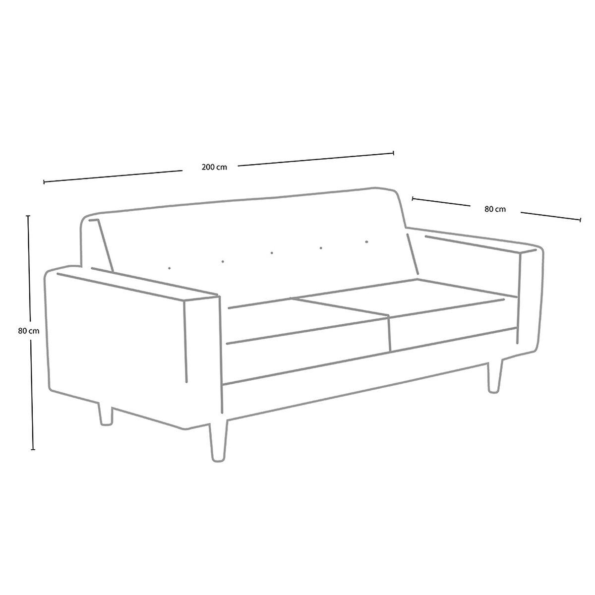 Sofá Mobel Home 3 Cuerpos