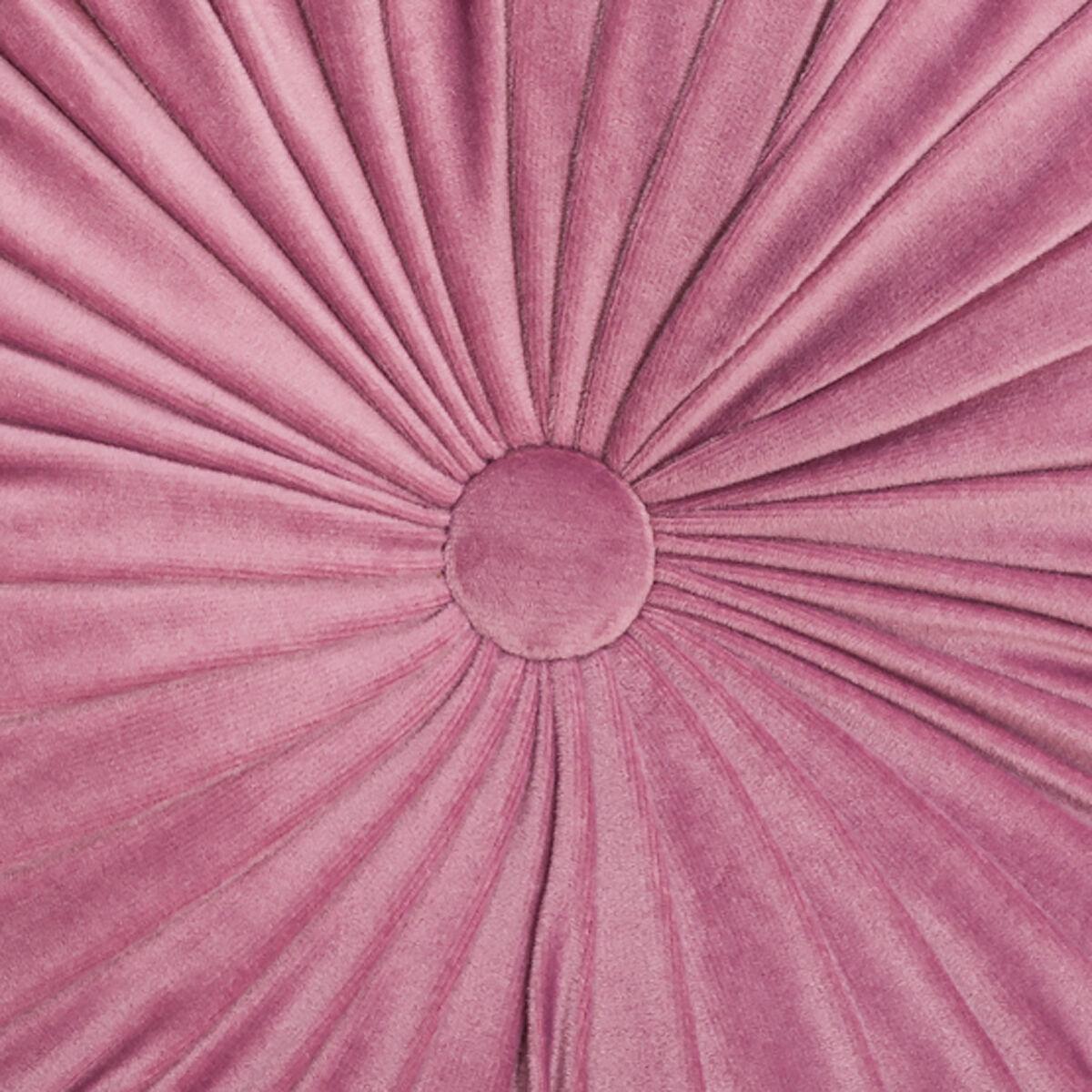 Cojín Velvet Redondo Pink Diametro 40 cm