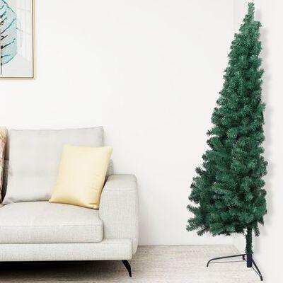 Medio Árbol de Navidad Verde  Santini 180 cm