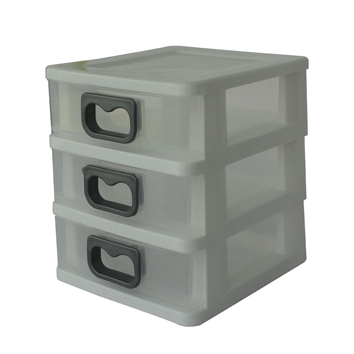 Caja Organizadora Plástica San Bernardo 3 Niveles Blanco