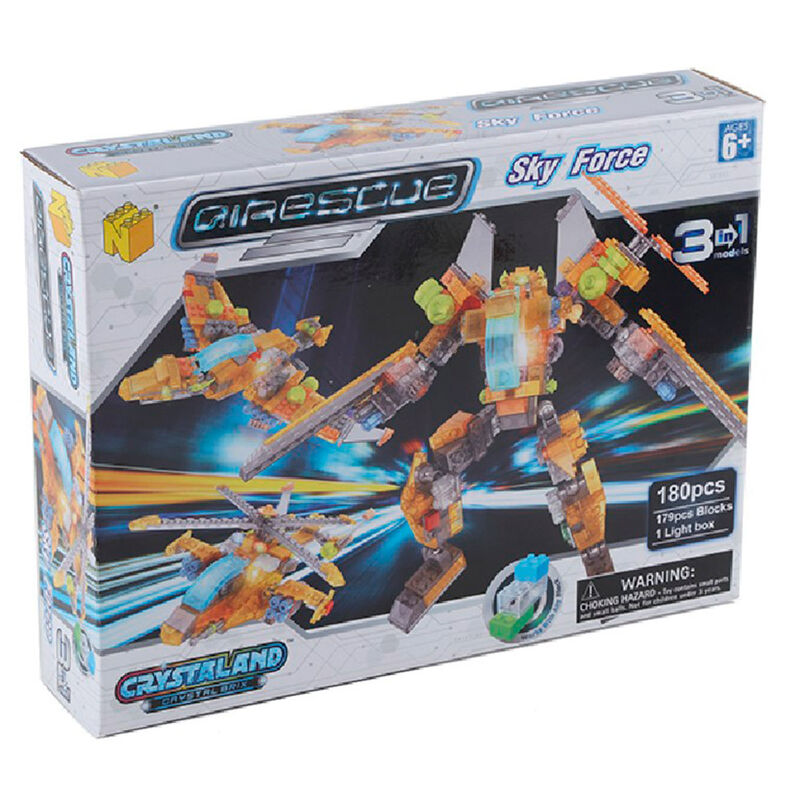 Set Bloques Crystaland Sky Force