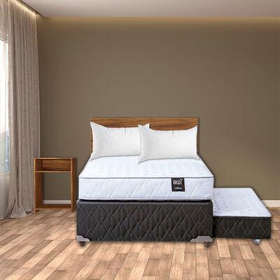 Diván Rosen 1,5 Plazas Ergo-T + Set Madera Casanova Nogal + Pack Almohadas Celta Imperial Soft 45x65 cm