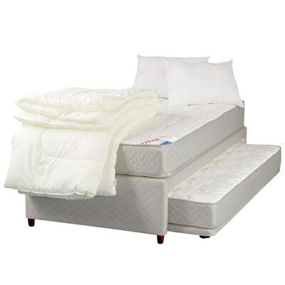 Cama Nido Therapedic 1 Plaza + Textil + Almohada