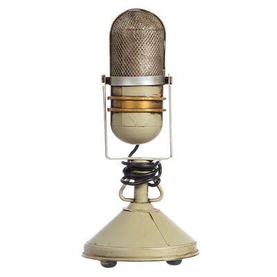 Adorno Microfono Metal Beige
