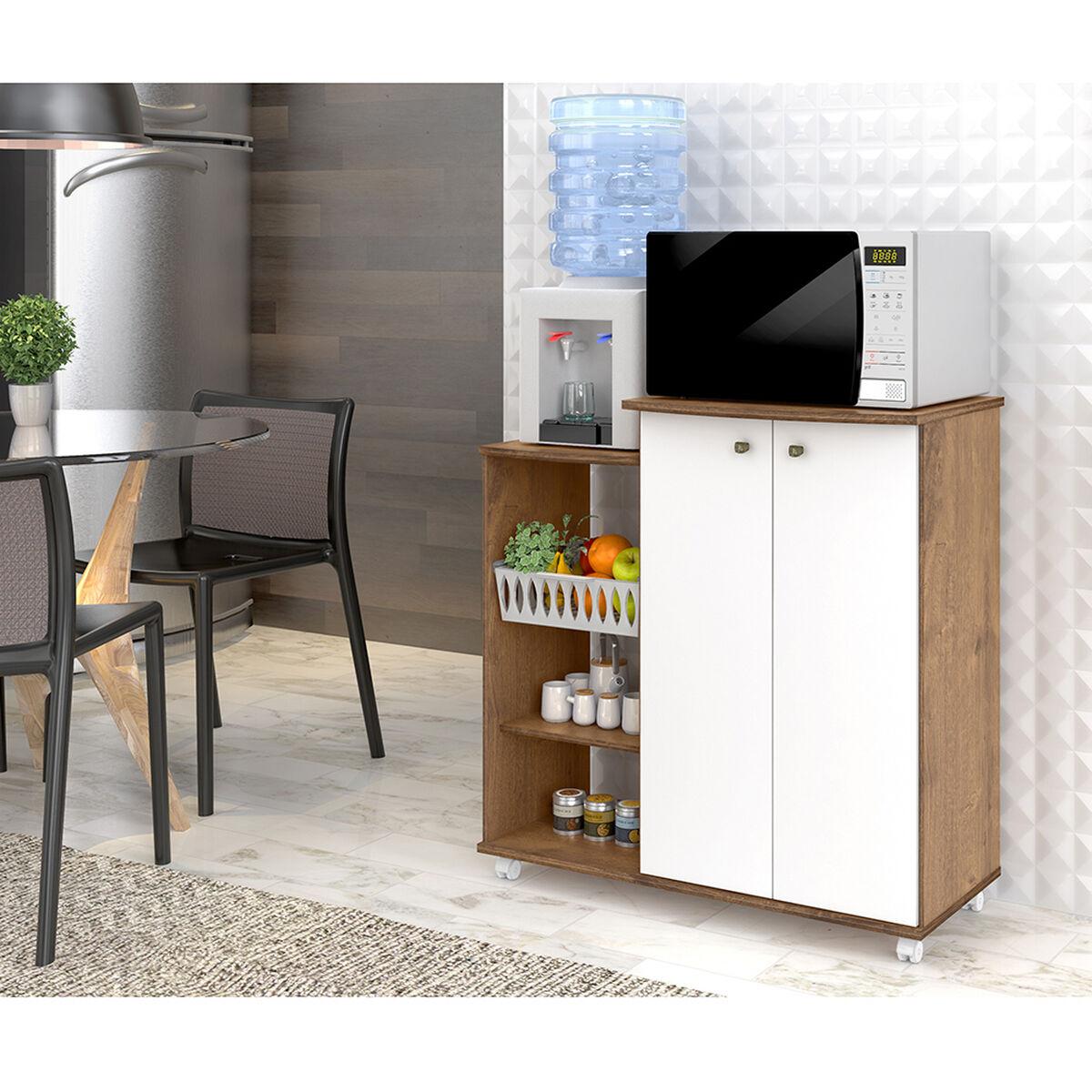 Mueble De Cocina Cabinet 2 Puertas Nature / Blanco