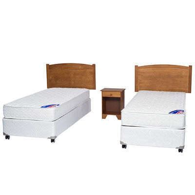 Doble Box Americano New Entree 1 Pl Flex + Muebles Arezzo