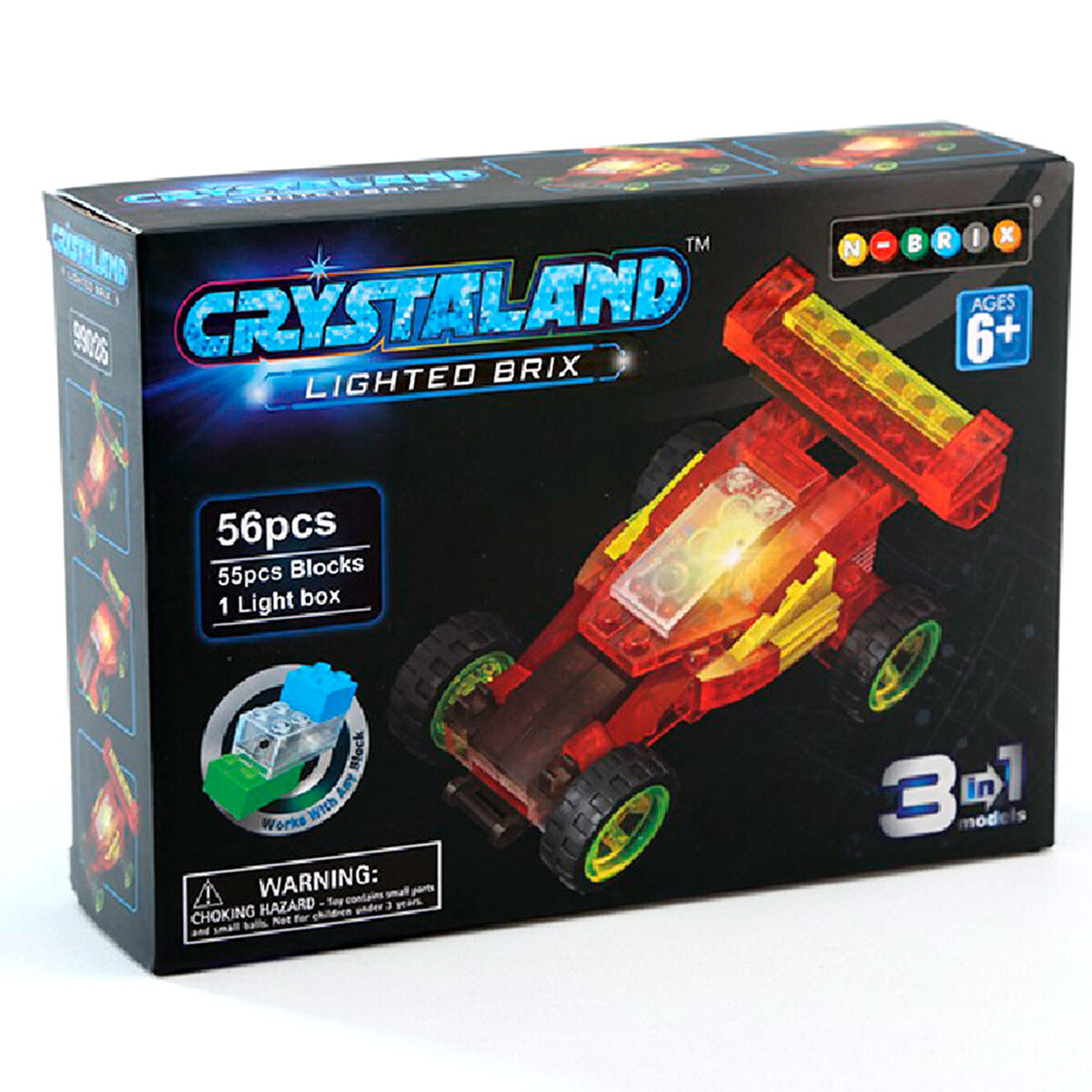 Set Bloques Crystaland Lighted Brix Auto