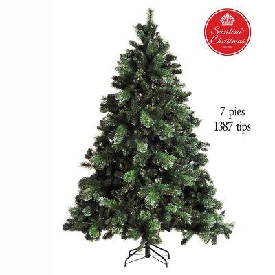 Árbol de Navidad Verde Plata Santini 210 cm