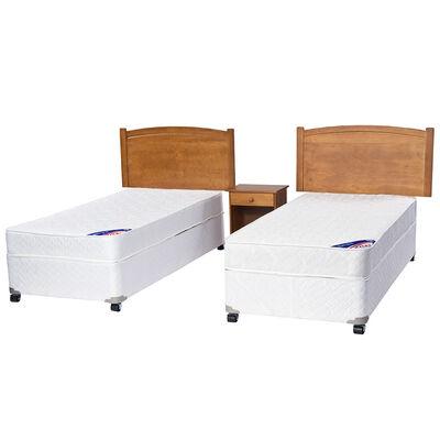 Doble Cama Americana Spring III 1 Pl Flex + Muebles Arezzo