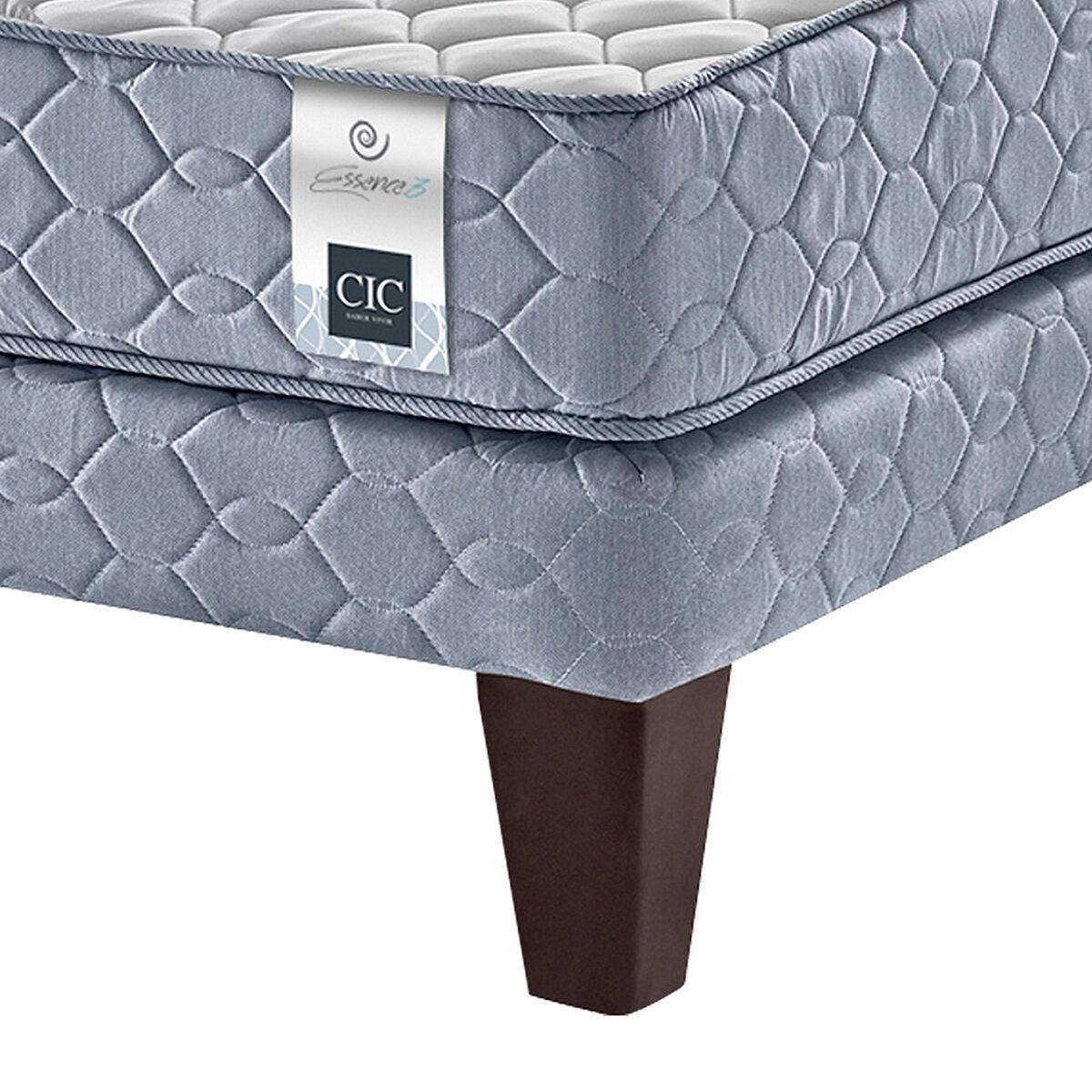 Cama Americana 1.5 Plazas CIC Essence 3 + Maderas + Textil